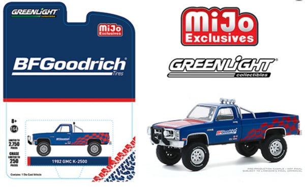 Greenlight 1:64 Mijo Exclusive 1982 GMC K-2500 BFGoodridge Custom 4x4 Limited 2,750 PCS  51333