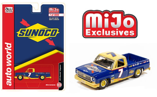 Auto World 1:64 Mijo Exclusive 1973 Chevy Cheyenne Sunoco Racing #7 CP7671-24