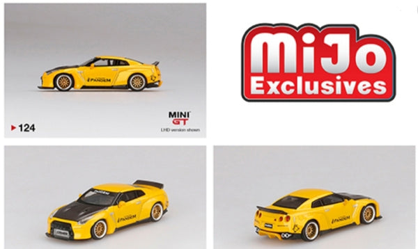 Mini GT 1:64 Mijo Exclusive USA PANDEM Nissan GT-R R35 Yellow Limited 1,800 PCS