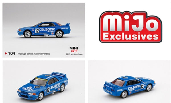 Mini GT Mijo Exclusive USA Nissan Skyline GT-R R32 #12 Calsonic Japan Touring Car Championship 1993 Limited Edition