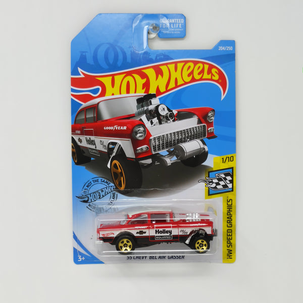 2018 hot wheels 1955 Chevy Bel Air Gasser HOLLEY