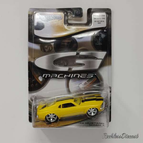 Hot Wheels G Machines 1970 Ford Mustang Mach 1 YELLOW