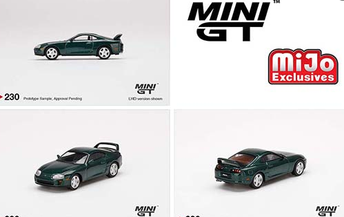 **PRE ORDER** Mini GT 1:64 MiJo Exclusives Toyota Supra (Dark Green Pearl Metallic)
