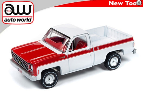 "Auto World 1:64 Premium 1976 Chevy Scottsdale Pickup Truck "" Olympic Edition """