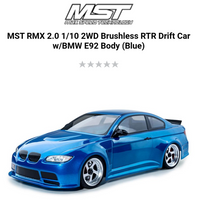 ***PRE ORDER*** MST RMX 2.0 1/10 2WD Brushless RTR Drift Car w/BMW E92 Body (Blue)