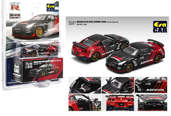 Era Car 1:64 Mijo Exclusive Nissan GT-R R35 Nismo Advan Yokohama Special Limited 1,200 pcs