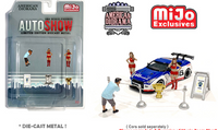 American Diorama 1:64 MiJo Exclusives - Auto Show Figures Set - Limited to 4,800 pieces