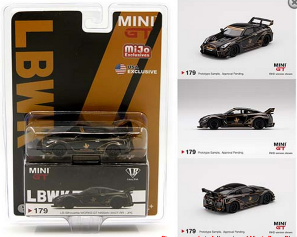Mini GT 1:64 MiJo Exclusives LB-Silhouette WORKS GT Nissan 35GT-RR Ver.1 JPS LHD Black
