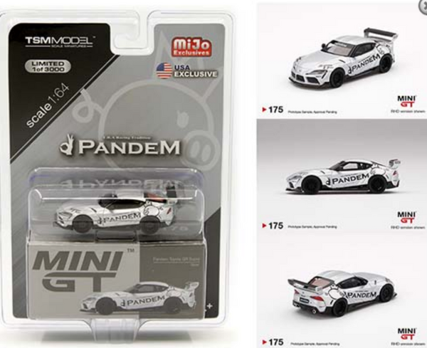 Mini GT 1:64 MiJo Exclusives Pandem Toyota GR Supra V1.0 Silver LHD