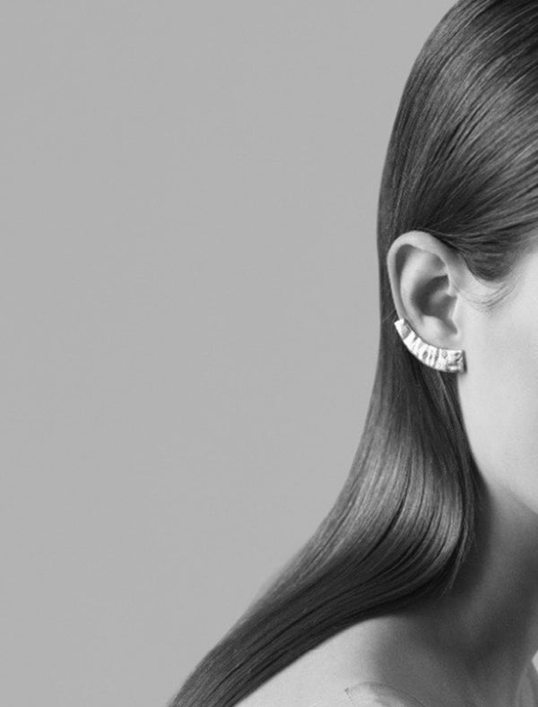 Lower Ear Cuff Argento