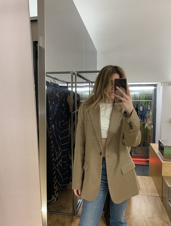 BLAZER OVER CAMEL