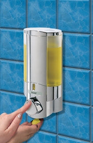 Aviva Chrome Single Soap and Gel Dispenser