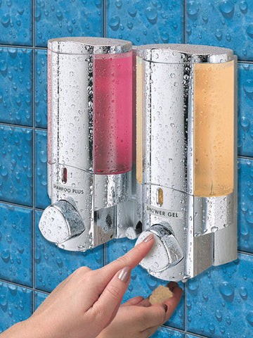 Aviva Chrome Double Soap and Gel Dispenser