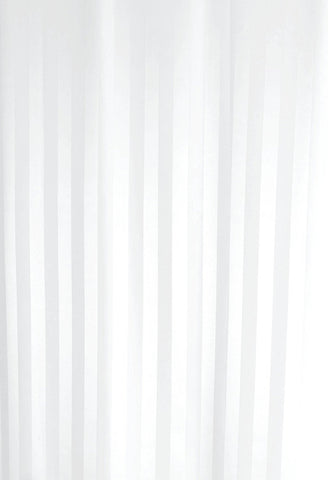 Luxxur PLUS Satin Stripe Shower Curtain - heavier 50g Weighted Hem - Size 220X220cm