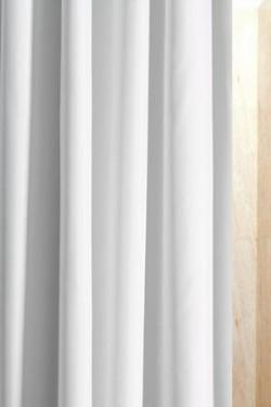 Anti-Bacterial Polyester Plain White Shower Curtain - 5 Sizes Up To Extra Wide And Long