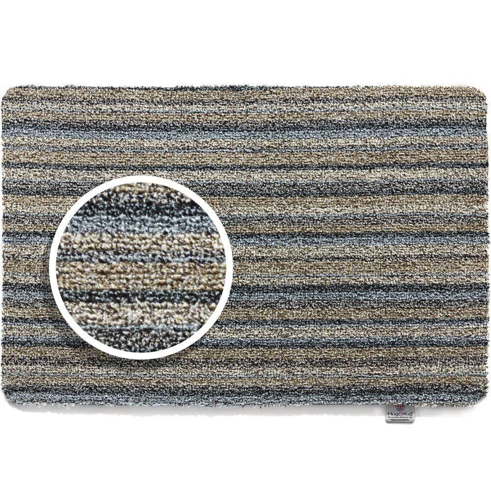 Hug Rug - Ribbon Grey  Highly Absorbent Indoor Barrier Mat - Available in  3 Sizes