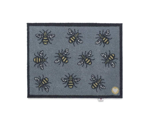 Hug Rug - Bee 2 Design - Highly Absorbent Indoor Barrier Mat - Available in 2 sizes Mat and Long Runner