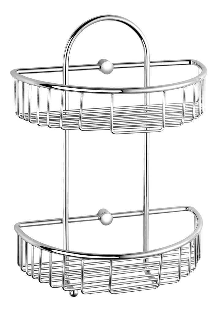 Luxxur Chrome Double Wall Caddy