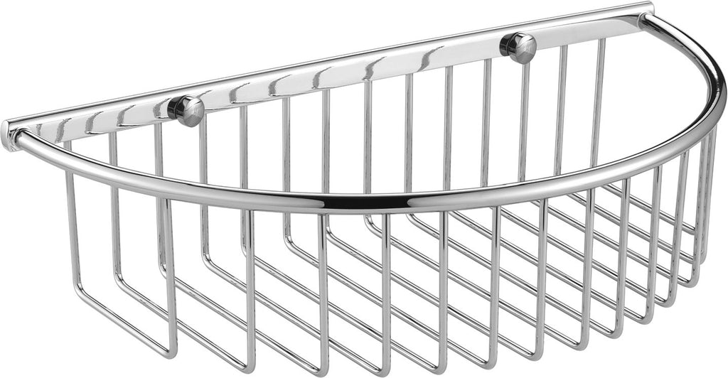 Luxxur Exclusive Chrome On Brass Deep Single Half-Moon Caddy - C140 Size 300x154x76mm