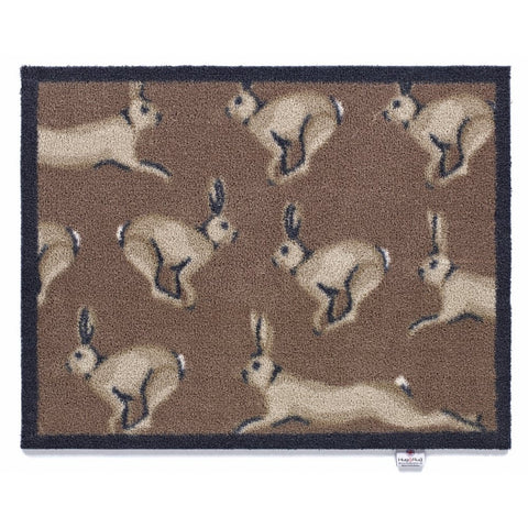 Hug Rug - Hare 1 Design - Highly Absorbent Indoor Barrier Mat - Available in 2 sizes Mat and Long Runner