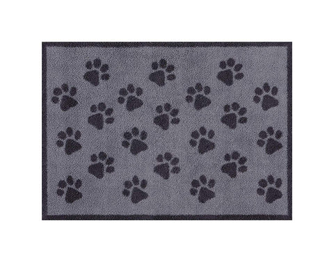 Paw Print - Grey - Design Turtle Mat - Indoor Barrier Mat - 2 Sizes available