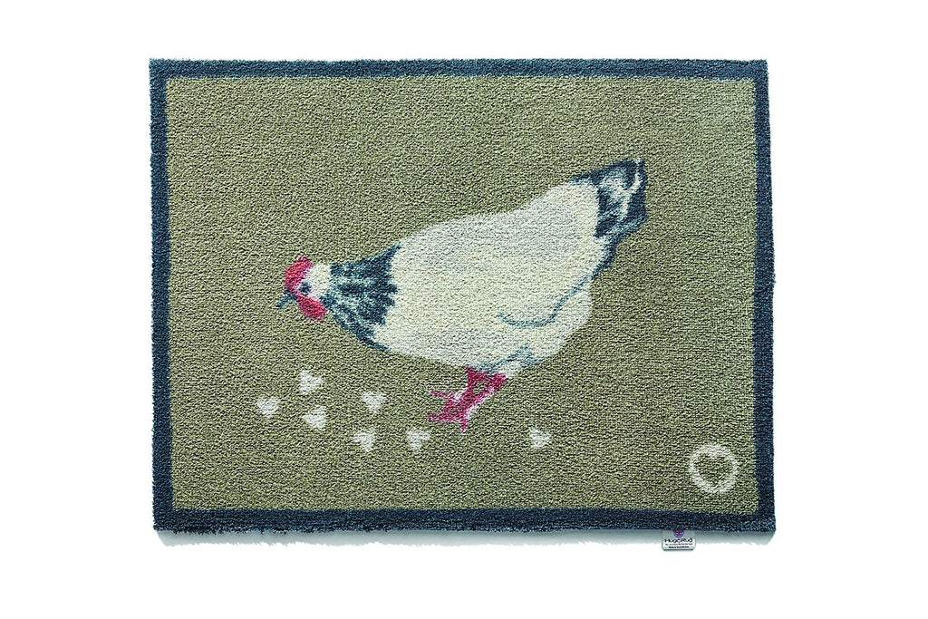 Hug Rug - Chicken 1 Design - Highly Absorbent Indoor Barrier Mat - Available in 2 sizes Mat and Long Runner