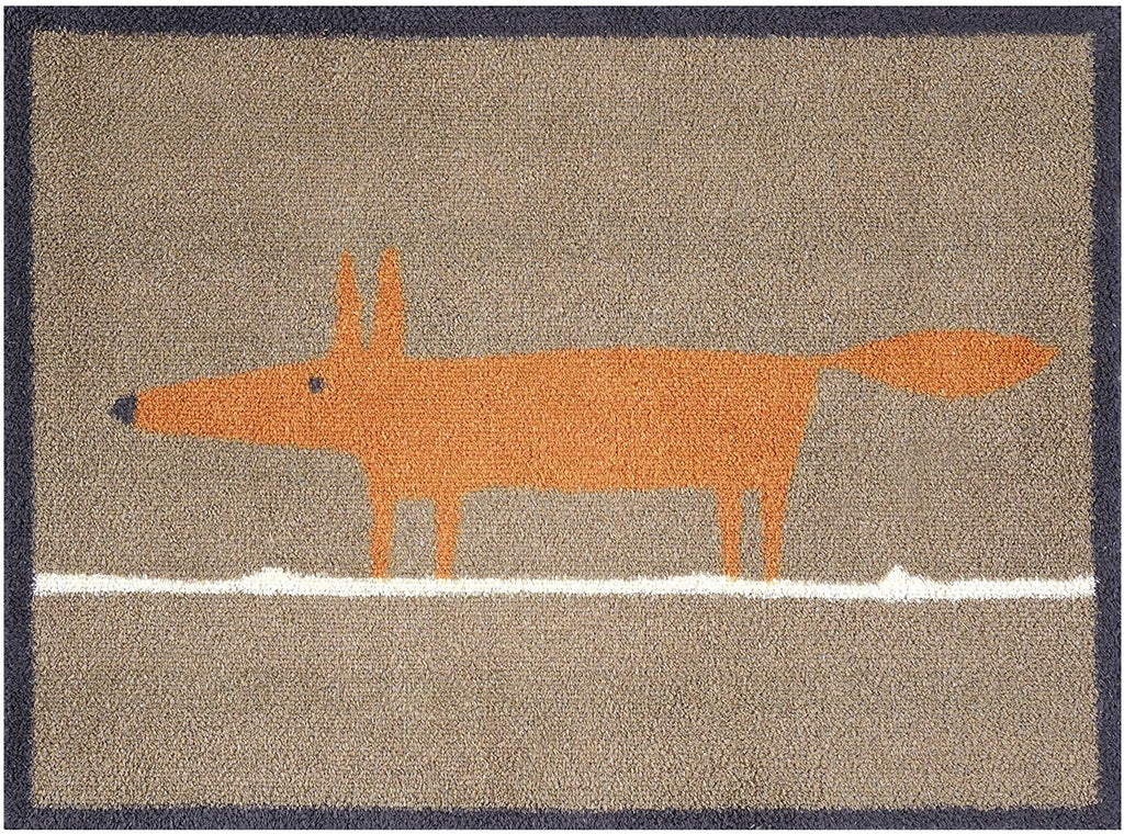 Turtle Mat - Mr Fox (Scion) Design -  Multi-Grip backing 60X85cm