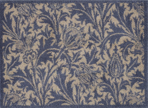 Turtle Mat - Thistle Blue/Gold Design -  Multi-Grip backing 60X85cm