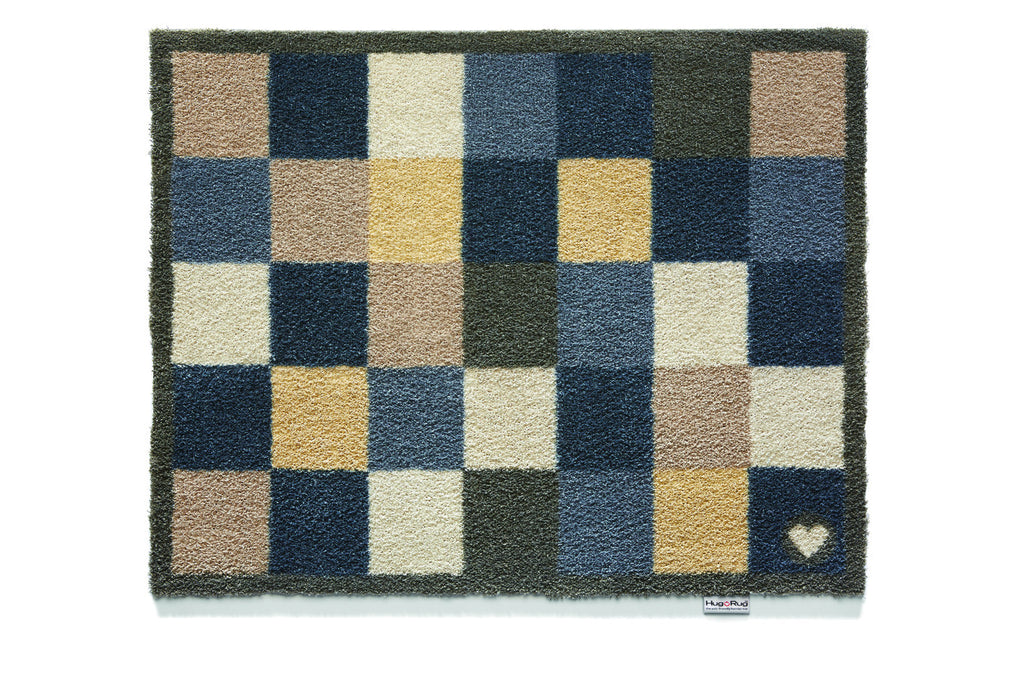 Hug Rug Check 12 Design Highly Absorbent Barrier Mat 65x85cm