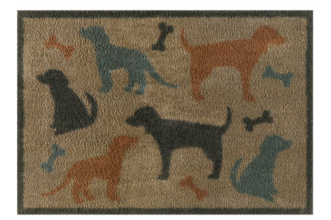 Turtle Mat Dog & Bone Design Multi-Grip backing  60x85cm