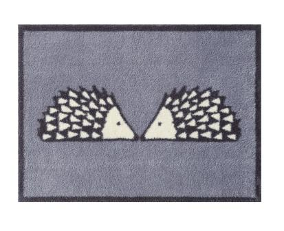 Turtle Mat - Kissing Spike -GREY- Design -  Multi-Grip backing 60X85cm