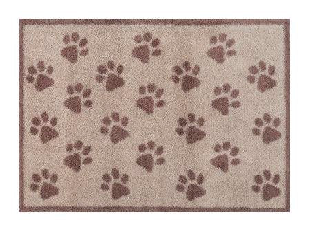 Paw Print - Brown - design Turtle Mat  Absorbent Indoor Barrier Mat -2 sizes available