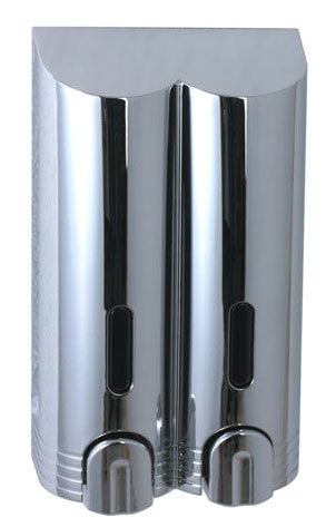 Duschy Chrome Double Soap and Gel Dispenser