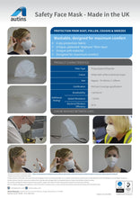 Load image into Gallery viewer, Safety Face Mask - Soft and Comfortable – Immediate Availability - UK manufacturer – Pack of 4