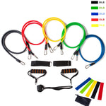 Rezistband Strength Pull Rope Band Set with Loop Bands - Carabiner shackle