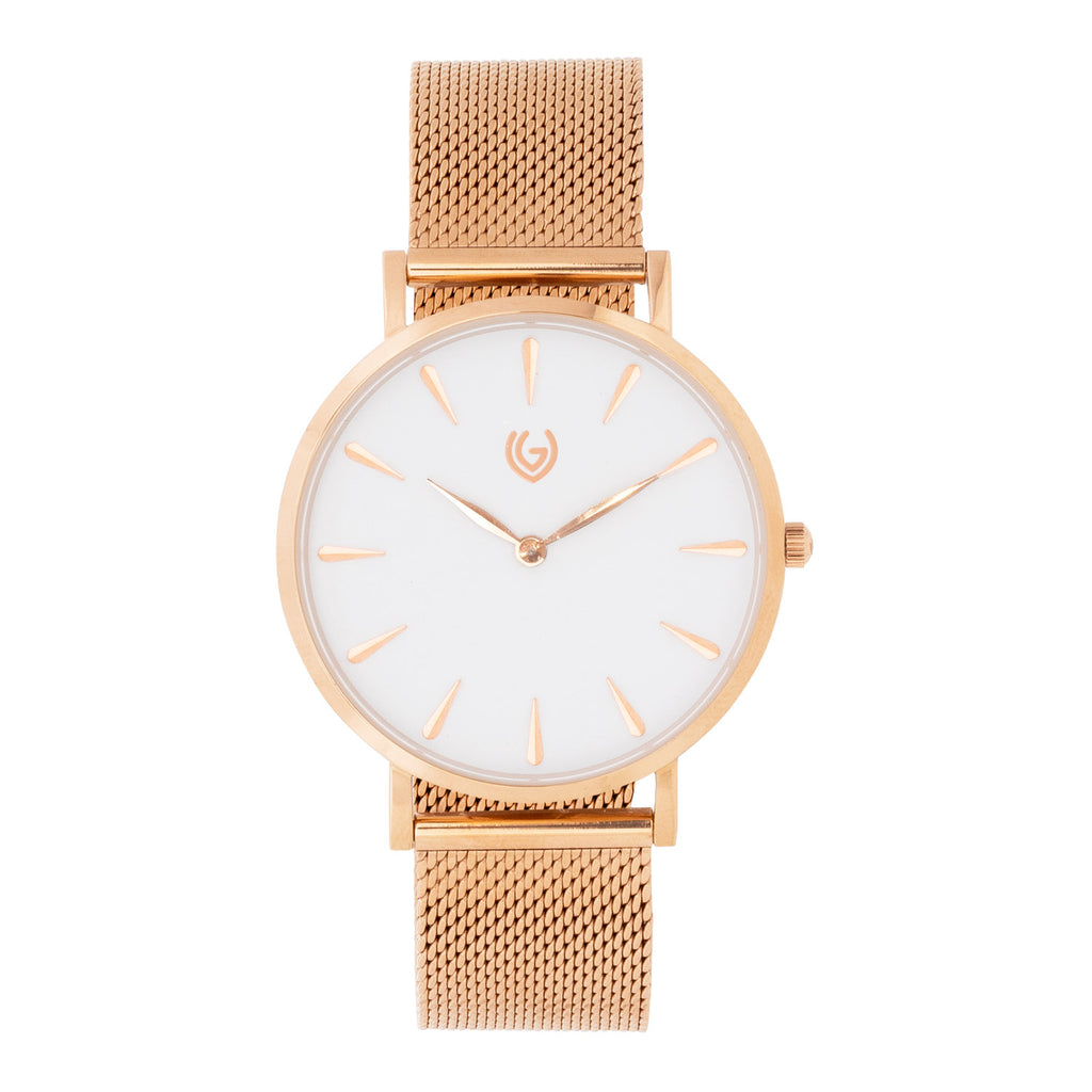 Allure - Mesh White - Rose Gold Color