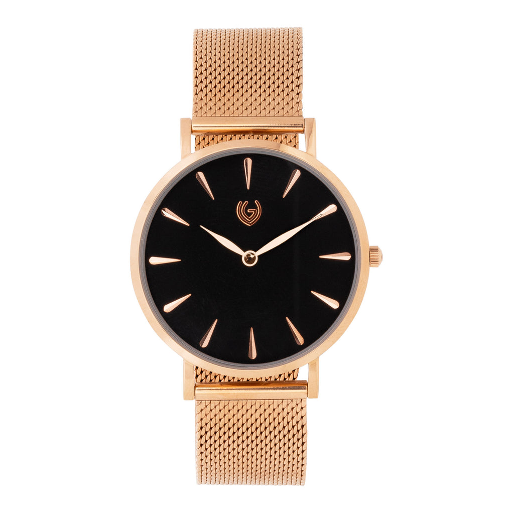 Allure - Mesh Black - Rose Gold Color