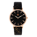 Allure - Leather Black - Rose Gold Color
