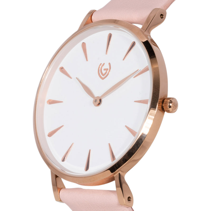 Allure - Leather Pink - Rose Gold Color