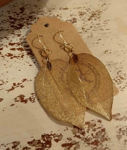 Metalized Leaves - Gold