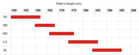Bike Size Guide - Riders Height