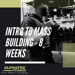 Beginner's Guide To Mass Building - 8 Weeks