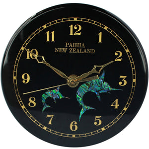 Emblem Paua Clock Small