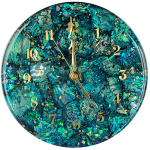 Paua Clock Large