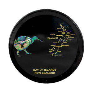 Paua Coaster Kiwi & NZ Map