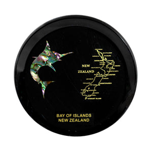 Paua Coaster Marlin & NZ Map