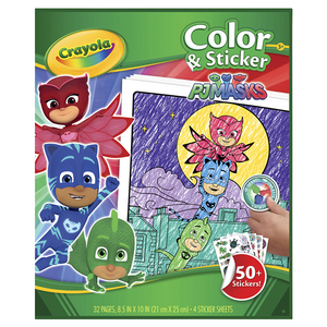 Crayola PJ MASKS Color and Stickers-040077