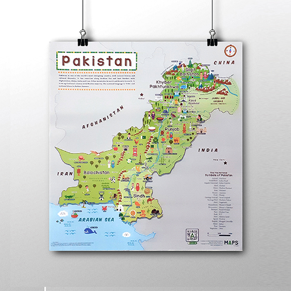 Kids Map of Pakistan