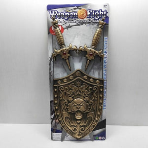 Cosplay Prop Lion Shield With Golden Swords