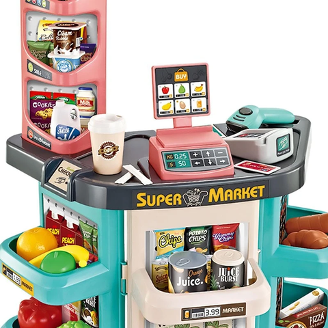 Home Supermarket With Cash Register